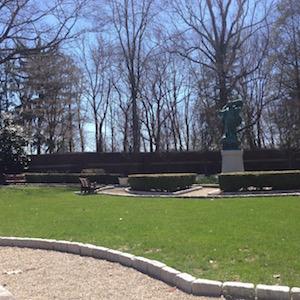 sunken garden at Loyola Jesuit Center