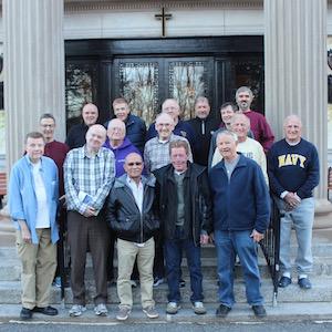 men on retreat at Loyola
